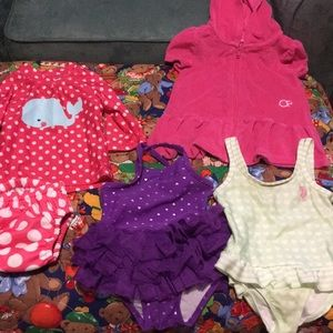 Other - Bundle of three bathing suits and swim cover up